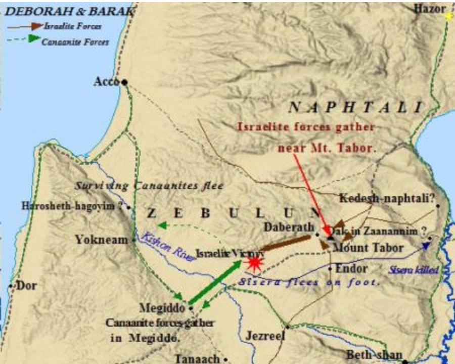 Deborah and Barak map